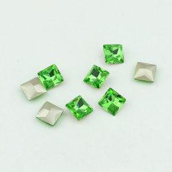 立方体水晶豪華な緩い宝石類ラインストーンおよびビード