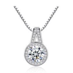 O zircão cúbicos AAA Diamond Mulheres Luxury Jóias de Dom 925 Sterling Silver Colares