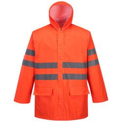 Outdoor Orange Fluo réfléchissant de la sécurité de l'imperméable