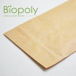 Пользовательские упаковки продуктов питания Kraft Bag биоразлагаемых Standup чехол с PLA молнией