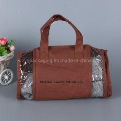 Fermeture à glissière de couverture de la Courtepointe de rangement réutilisable cylindrique oreiller de promotion des sacs d'emballage cadeau non tissé