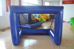 Blue Inflatable Water Ball Gate para Futebol de água e sabão Futebol