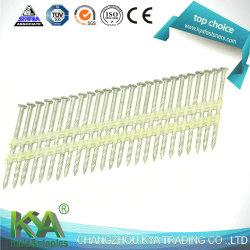 21 graus de zinco de Cabeça Redonda Galvanized tira de plástico pregos para emoldurar Nailer