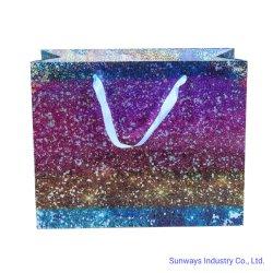 Riciclato trasportare il sacco di carta con l'ologramma per l'imballaggio di lusso del prodotto