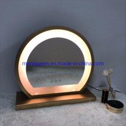 Iluminado LED Vantiy espejo con interruptor táctil de la luz de tres espejos para maquillarse