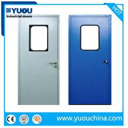 食糧または製薬産業のためのGMPの内部の金属またはIron/304ステンレス鋼のクリーンルームのフラッシュ振動ドア