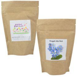 Ziplock impresso personalizado à prova de pacote de papel seco chá secas Sementes de flores de plástico de embalagem