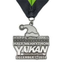 Moda Antiquariato Argento Metallo Half Marathon Medal Mostra Decorazione