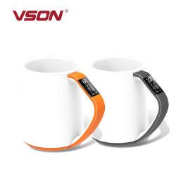 Recordatorio inteligente de temperatura de la taza de café 350ml manejar definir tazas de agua para Office Home