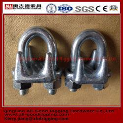 un tipo clip d'acciaio galvanizzata clip d'acciaio malleabile della fune metallica dell'acciaio inossidabile DIN741 1142 della ghisa malleabile della fune metallica di Galv