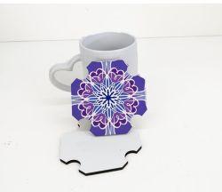 Eco Friendly Sublimation absorbant Square Cork Coaster Set de 4 avec support pour le thé café