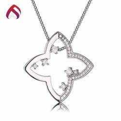Nouveau mode Bijoux 925 Sterling Silver Jewellery pendentif fleur avec CZ