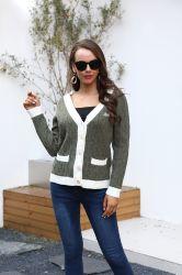 La mujer Suéteres con cuello en V Casual Chompas Cardigan cubrir Stock de prendas de vestir