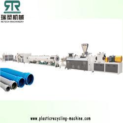 Konische Doppelschrauben-Plastikextruder für Belüftung-Rohr-Strangpresßling-Produktionszweig Pflanze