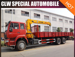 Sino HOWO 10t 12t 6X4 트럭 로더 크레인