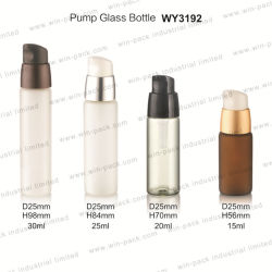 30 مل 25 مل 20 مل زجاج مخصص فاخر Frosted ذو وجه العين بلوري سعة 15 مل مصل التعبئة لزجاجات منتجات ساخنة مع تغليف الشعر
