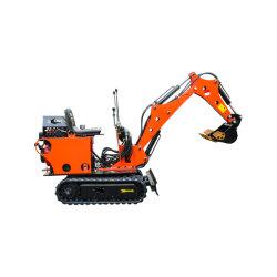 CE 800kg de oruga de la miniexcavadora hidráulica Máquina Diesel para la venta