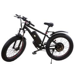 알루미늄 합금 현탁액 포크 48V 500W 1000W LCD 디스플레이를 가진 고전적인 성숙한 전기 산악 자전거 바닷가 Ebike 뚱뚱한 자전거