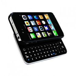 Модель со сверхплоским корпусом Wireless Bluetooth клавиатуру и скольжения Hardshell чехол для Apple iPhone 4/4s