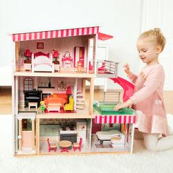 새로운 스타일의 베스트 세일 클래식 목재 인형 하우스 인형하우스