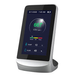 LCD Digital Medidor de CO2 Dióxido de carbono medidor Monitor de la calidad del aire del cilindro de gas CO2 del medidor de CO2