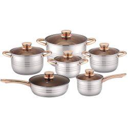 Gran diseño colorido 12 pzas menaje abdomen la forma del cuerpo anti-adherente de acero inoxidable utensilios de cocina establecido