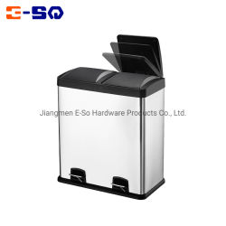 Gute Qualitätsinnenbadezimmer der 16 Gallonen-Edelstahl bereiten Abfall-Dosen-Fuss-Pedal-Abfall-Sortierfach auf