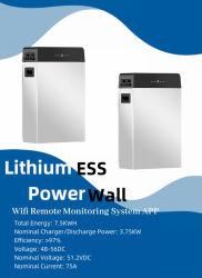 Аккумулятор для хранения 48 в 150 а, литий-ионный аккумулятор, 7,5 кВт/ч, глубокий цикл