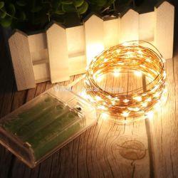 حفلة زفاف عيد الميلاد غرفة نوم الديكور سلسلة عيد الميلاد أضواء قطاع النحاس ضوء LED خيط سلك الضوء