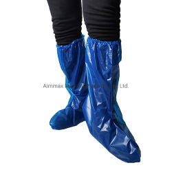 Funda de plástico desechable para piernas rodilla largo zapato SMS CPE PP PE