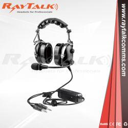 머리 위 착용 헤드셋 잡음 제거 Bluetooth ANR 항공 헤드셋 조종사용 비행기 헤드폰