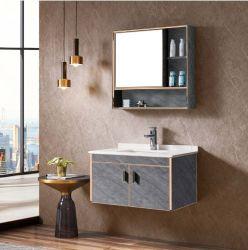 Comercio al por mayor calidad moderno cuarto de baño armario con encimera de piedra artificial