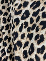 Wolle-Pfirsich-Leopard-Polyester-Gewebe 100% für die Frauen, die 2020 kleiden