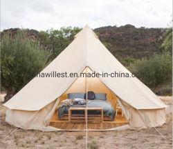 아마존 탑 셀러 오버사이즈 방수 야외 캠핑 코튼 캔버스 티피 유르트 글램핑 벨 텐트 당 텐트