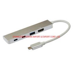 Type de l'océan C à + 2*USB 3.0 de type c + câble HDMI