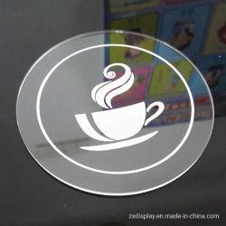 Luxe Acrylic plastic glazen beker coaster voor Coffee Shop en Bar