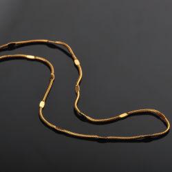 Edelstahl-Schmucksache-runde Schlange-Kette geprägte Halskette der Form-Zubehör-18K Gold überzogene