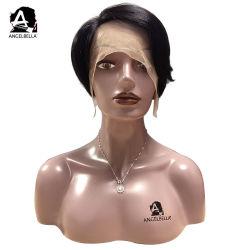 Parrucche poco costose nere diritte della parte anteriore del merletto di prezzi 150% dei capelli di scarsità con la parte laterale per la parrucca quotidiana realistica di usura dei capelli umani delle donne