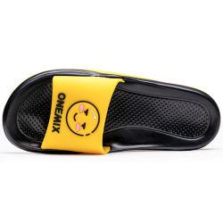 Onemix Flip Flop hombres zapatillas sandalias de verano al aire libre en el interior de las mujeres de dibujos animados Inicio zapatos Sandalias zapatos de la Playa de las DIAPOSITIVAS PLANO damas