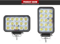 45W 27W 4X4 farol de luz LED lâmpada LED off road 12V para automóvel a Luz de Trabalho de LED para automóveis ATV Veículo Luz Carro de Trem