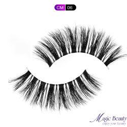 La Chine prix d'usine 100 % Handmade Soft Nature Lash 3d effacer des lignes de pêche vison de la bande de faux cils pour le maquillage