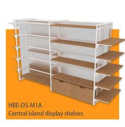 Magasin Vitrine du Cabinet Miniso étagère d'affichage de l'échelle en bois de style
