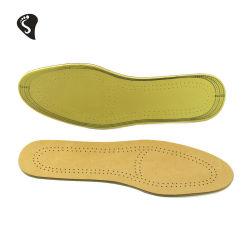 Óleos vegetais de pele curtida unissexo Super Comfort Respirabilidade Absorção de espuma de látex em couro palmilhas de calçados