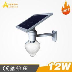 12W, haute efficacité Monocrtystalline Silicon tous dans une LED lumière solaire de jardin avec le temps le contrôle