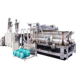 /Doubleのプラスチック高速単一の壁の機械生産ラインを作る波形の管の押出機