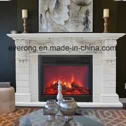 Природные Карвинг Mantel статую свечи белого или бежевого мрамора каменным камином для дома украшения