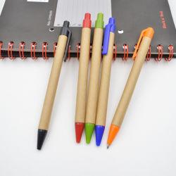Kundenspezifische Marken-Firmenzeichen-Braunes Packpapierballpoint-Feder, fördernder GeschenkBallpoint