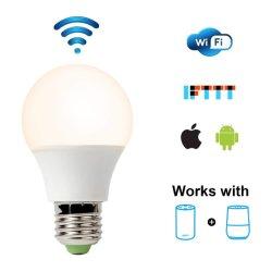 Simva LED 전구 전구를 흐리게 하는 지능적인 LED 전구 A60 6W 480lm WiFi LED 전구 Dimmable Warm&Daylight는 허브 아마존 Alexa와 Google 홈으로 작동을 요구했다