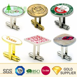 Shirtsのための方法Design Custom Metal Debossed Logo Enamel Gold Plated Luxury Brand Cufflink