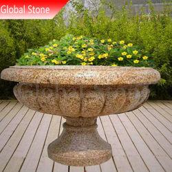 Камень мраморные вазы сад цветы в горшочках сеялки (ВСП-125)